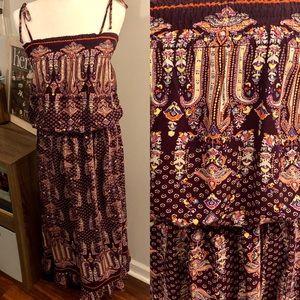 Xhilaration Tie Waist Maxi Dress